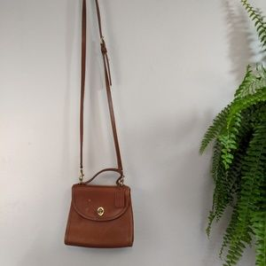 Coach Vintage Brown Leather Crossbody Purse